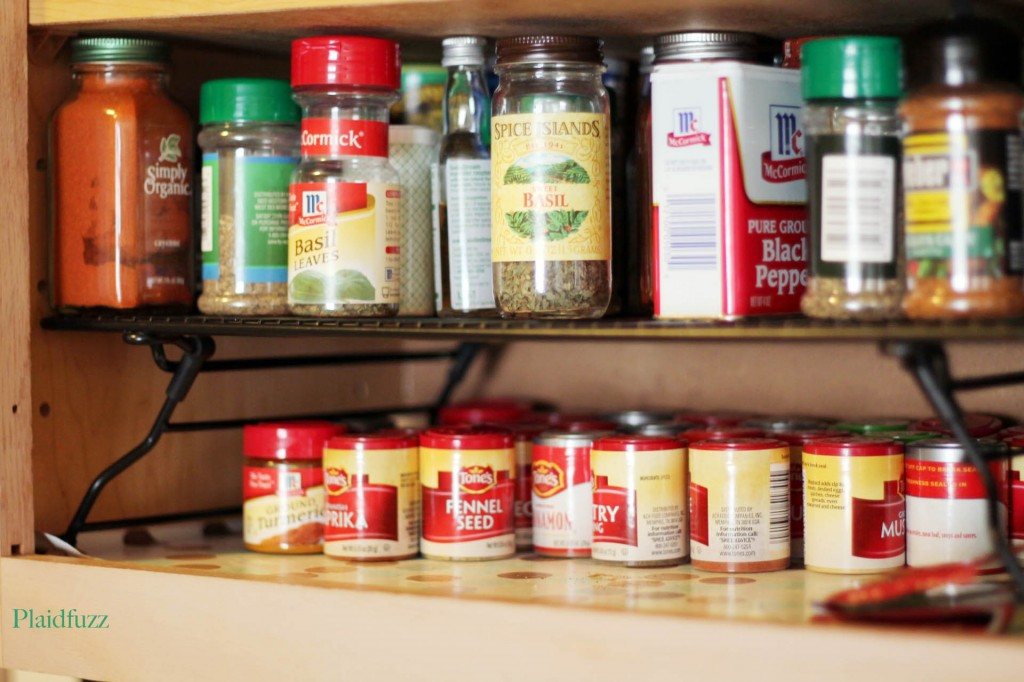 "I just opened my cupboard and snapped a pic, so sorry about the ""spice dust"" lol"