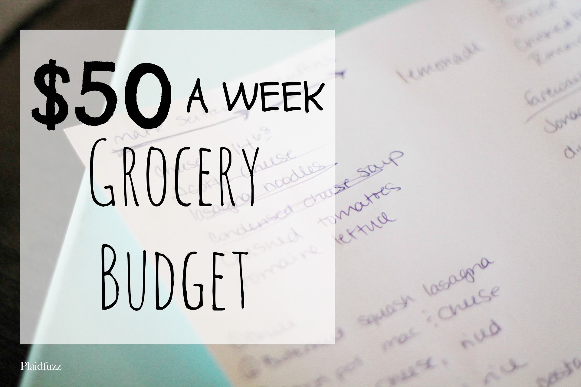 $50 A Week Grocery Budget