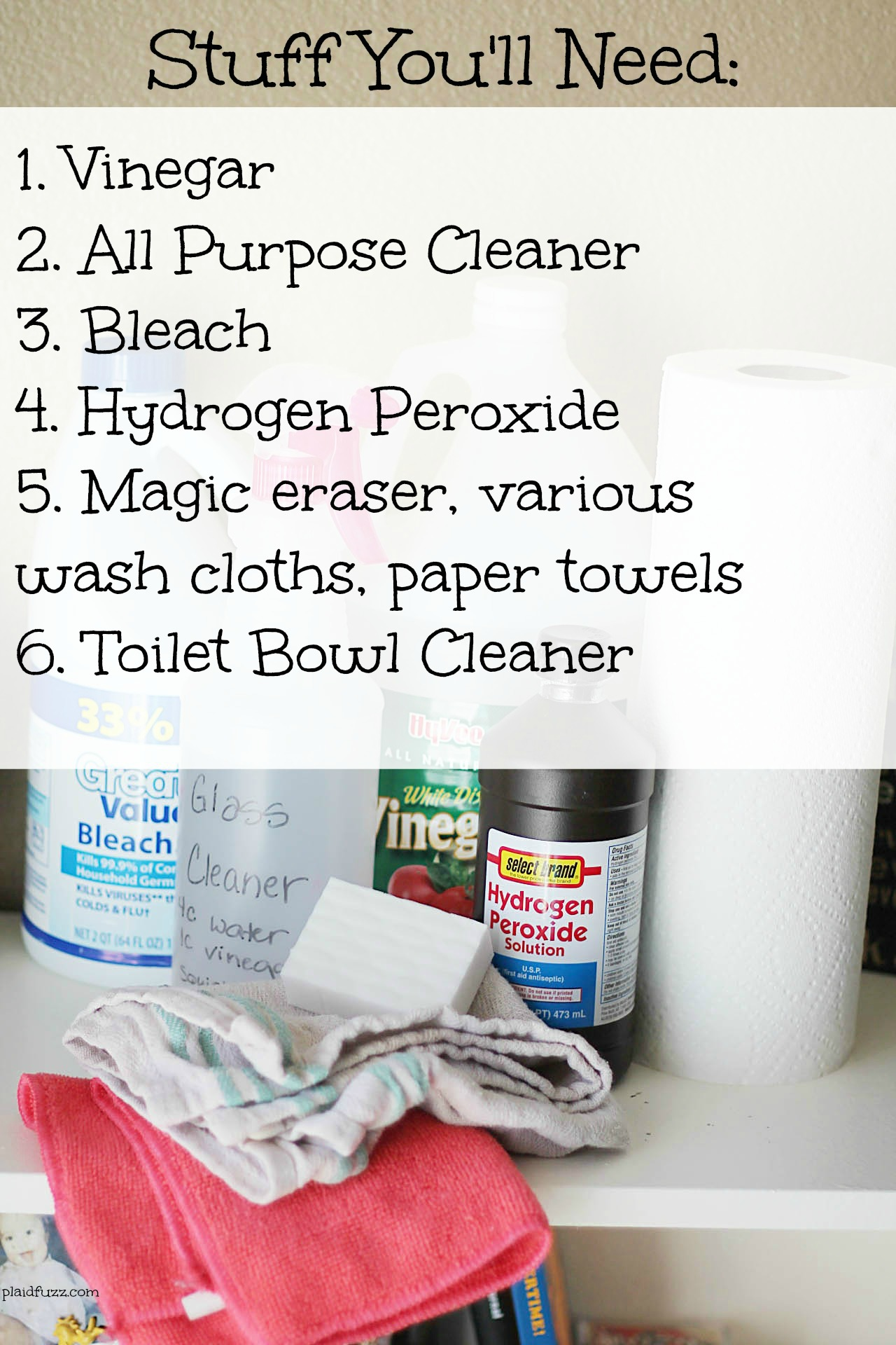Bathroom Cleaning Routine – Free Printable