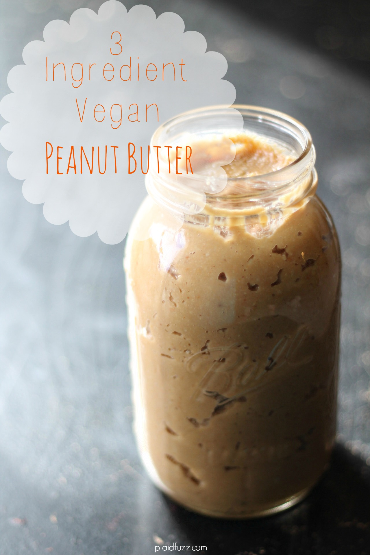 3 Ingredient Vegan Peanut Butter