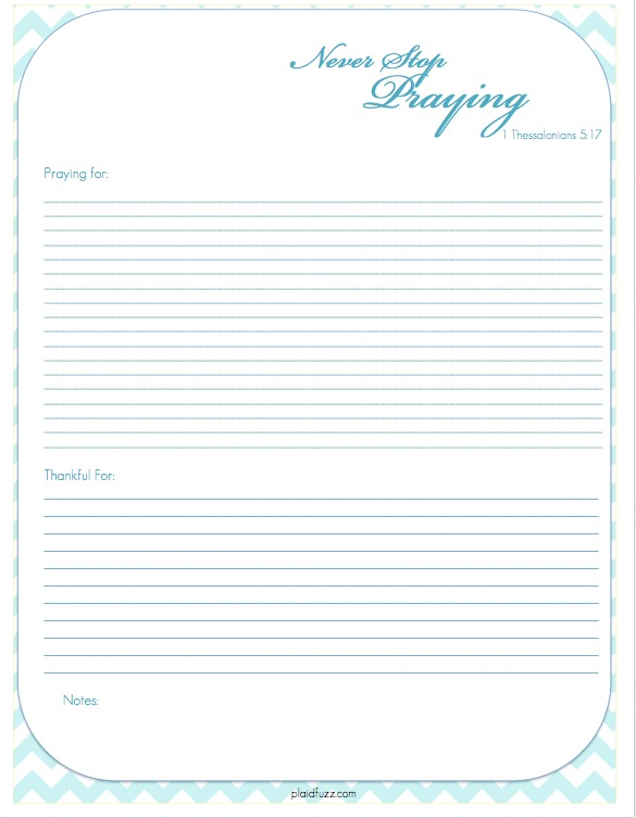 photo relating to Printable Prayer Journals named Absolutely free Prayer Magazine Printable - The Place of Plaidfuzz