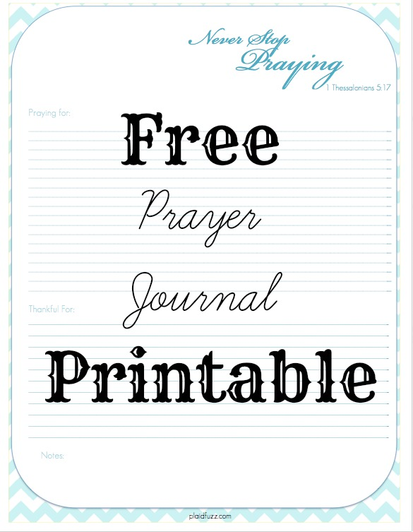 Punchy image regarding printable prayer journals