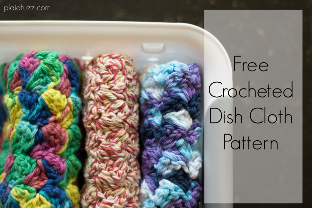 free crocheted dish cloth pattern