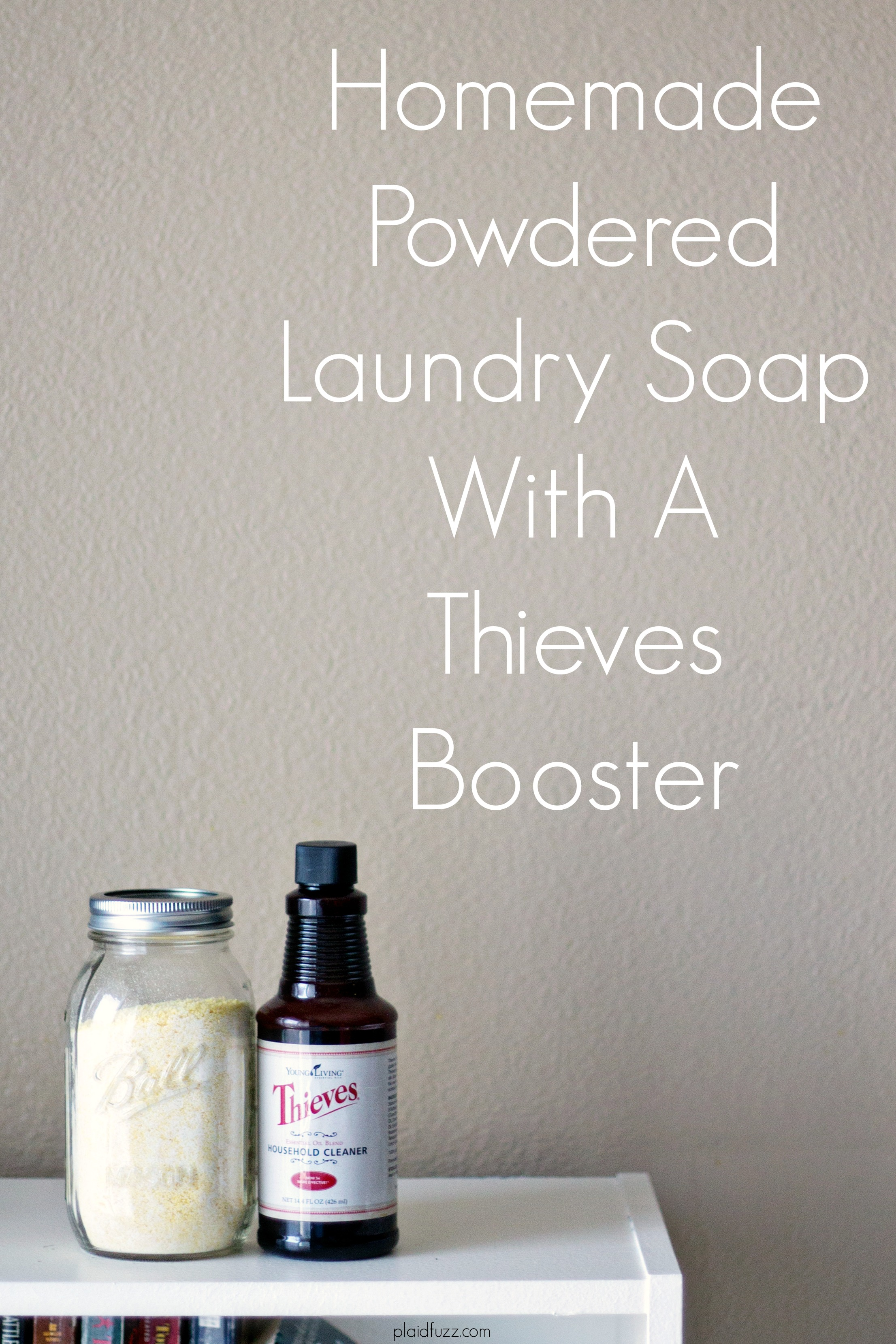 Homemade Powdered Laundry Soap With Thieves Booster