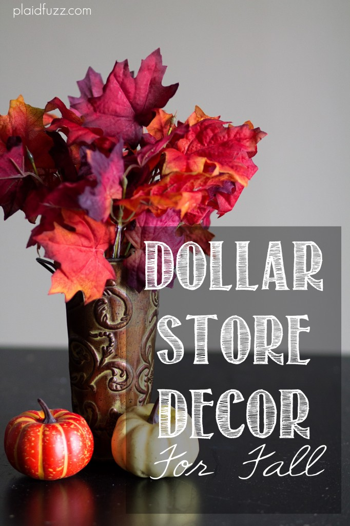 dollar store decor for fall the house of plaidfuzz. Black Bedroom Furniture Sets. Home Design Ideas