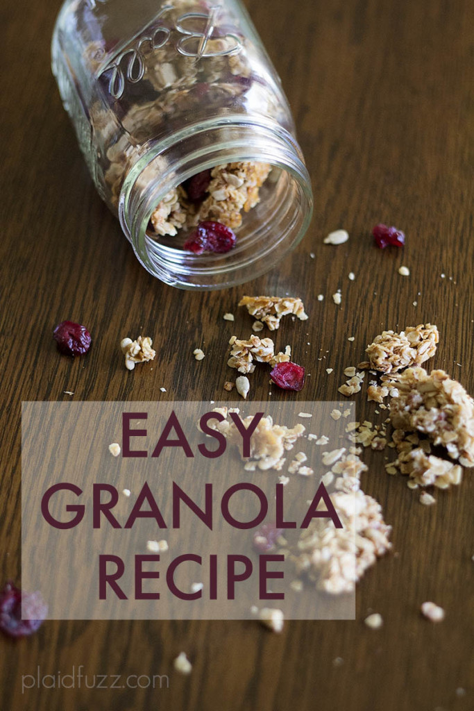 Easy, healthy granola recipe