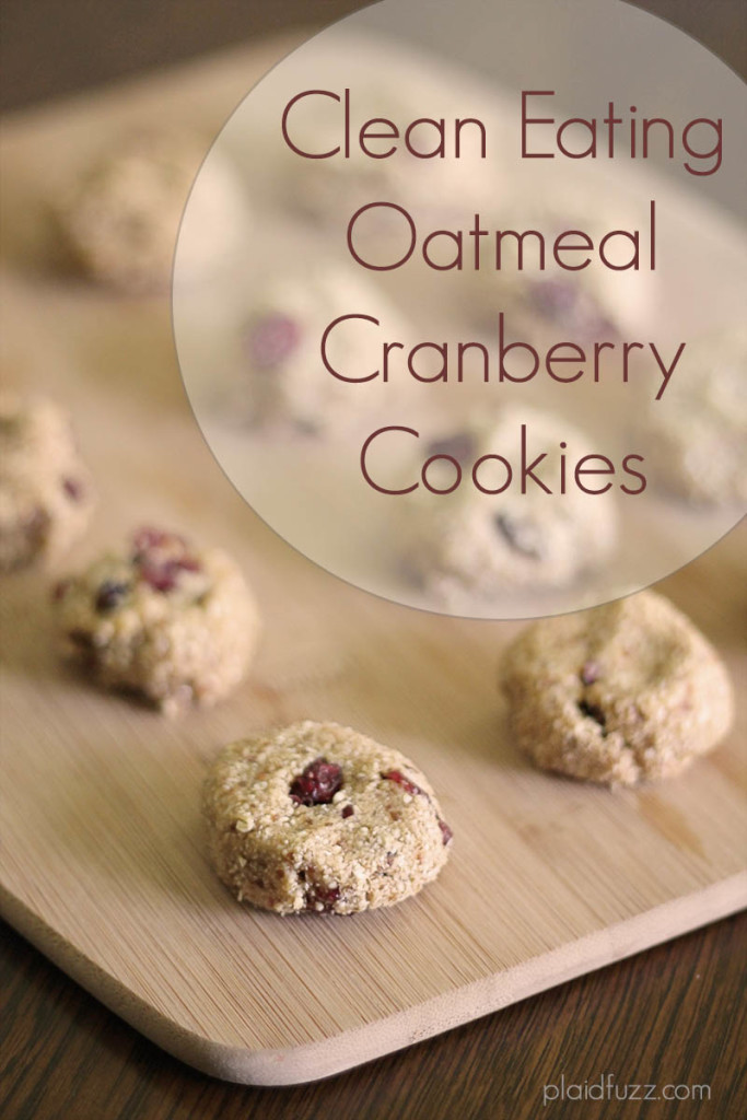 Clean Eating Oatmeal Cranberry Cookies