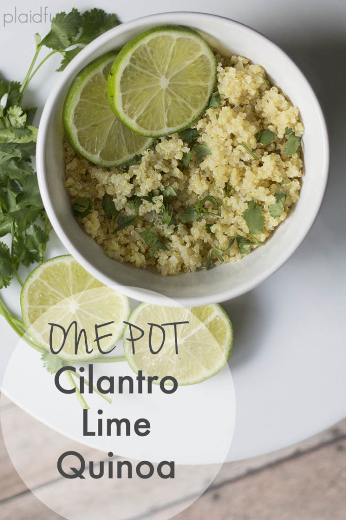 one pot cilantro lime qunoa