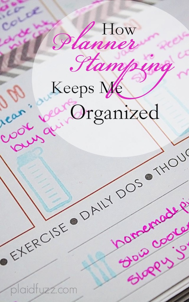 how planner stamping keeps me organized