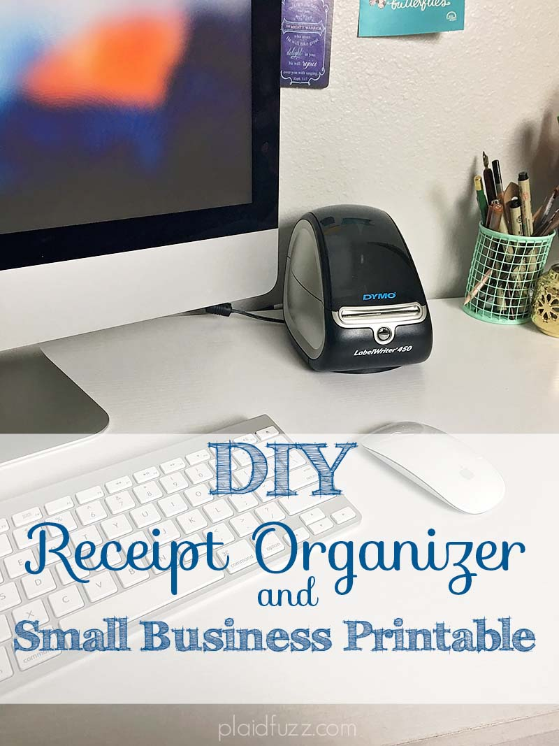 DIY Receipt Organizer and Small Business Printable