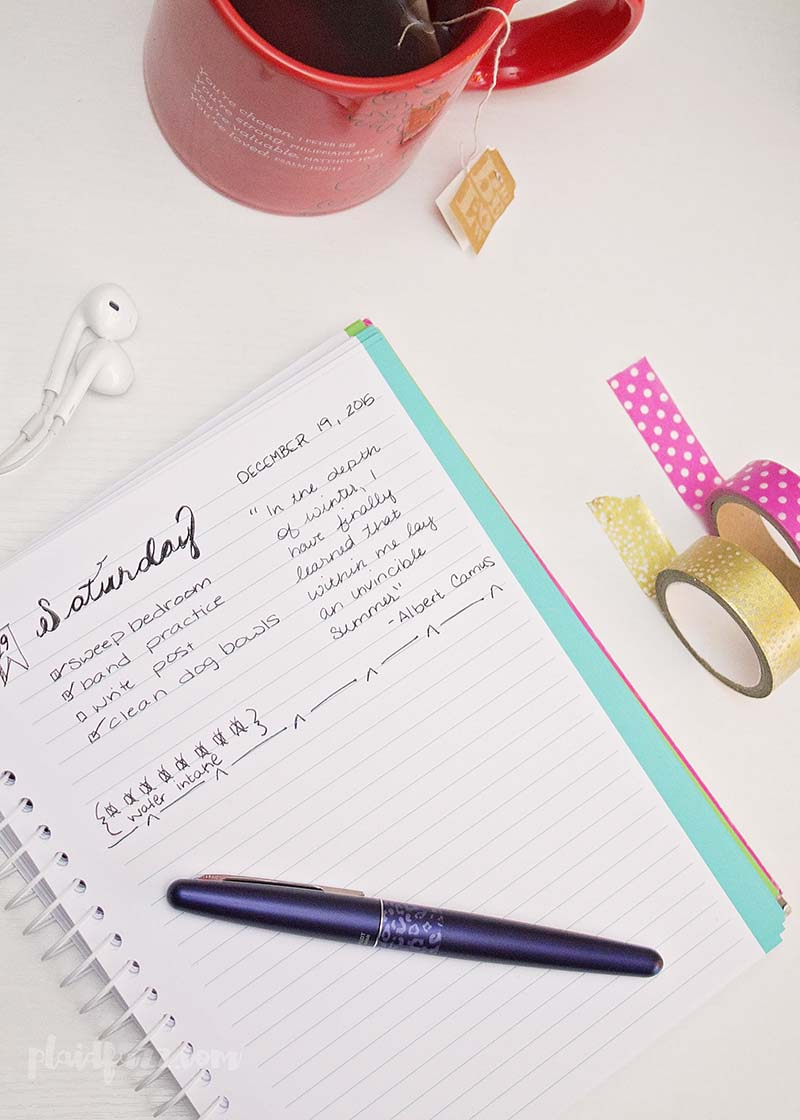 destress with journaling