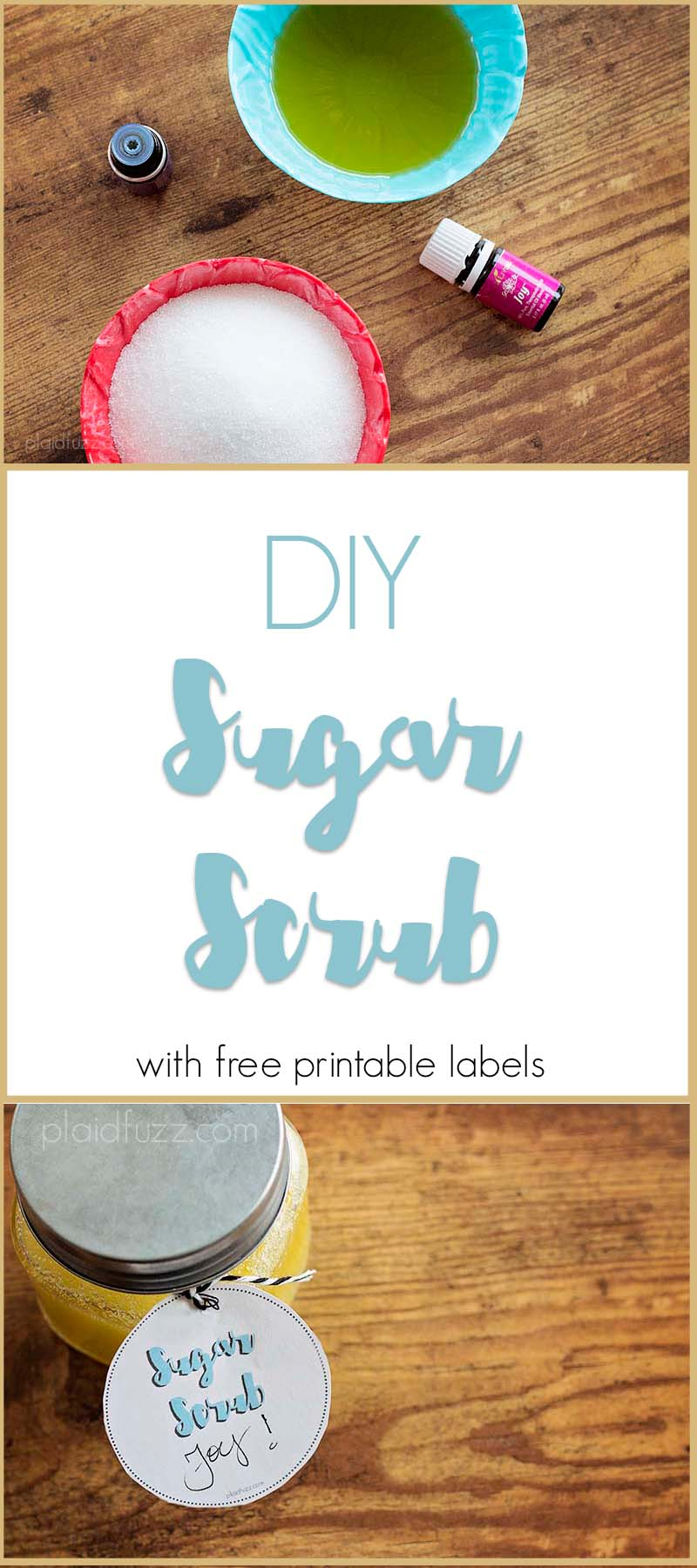 This DIY sugar scrub is easy, and heavenly for winter skin!