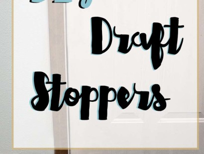 DIY Draft Stoppers