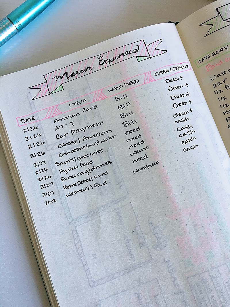 Bullet Journal Budget Layouts | The House of Plaidfuzz