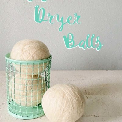 DIY Dryer Balls and 4 tips To Simplify Your Laundry Routine
