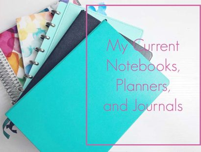 My Current Notebooks, Planners and Journals