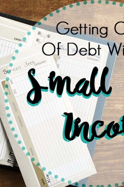 Getting out of debt with a small income