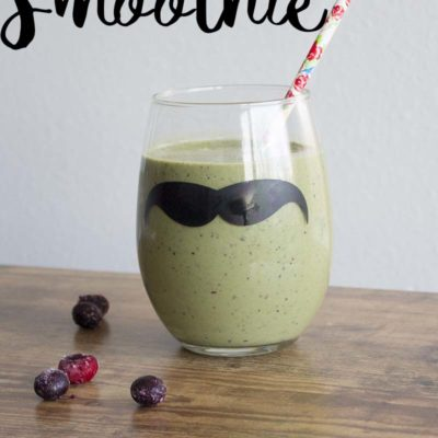 Berry Nutty Smoothie With Hidden Greens
