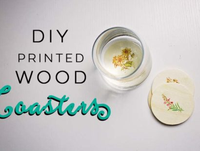 DIY Printed Wood Coasters