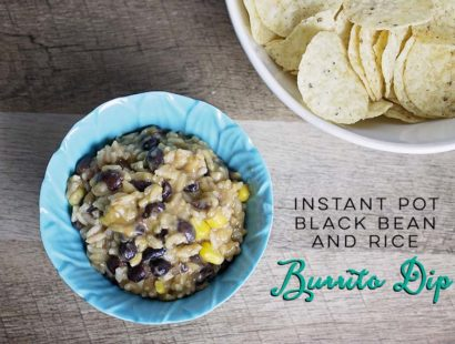 Instant Pot Black Bean and Rice Burrito Dip
