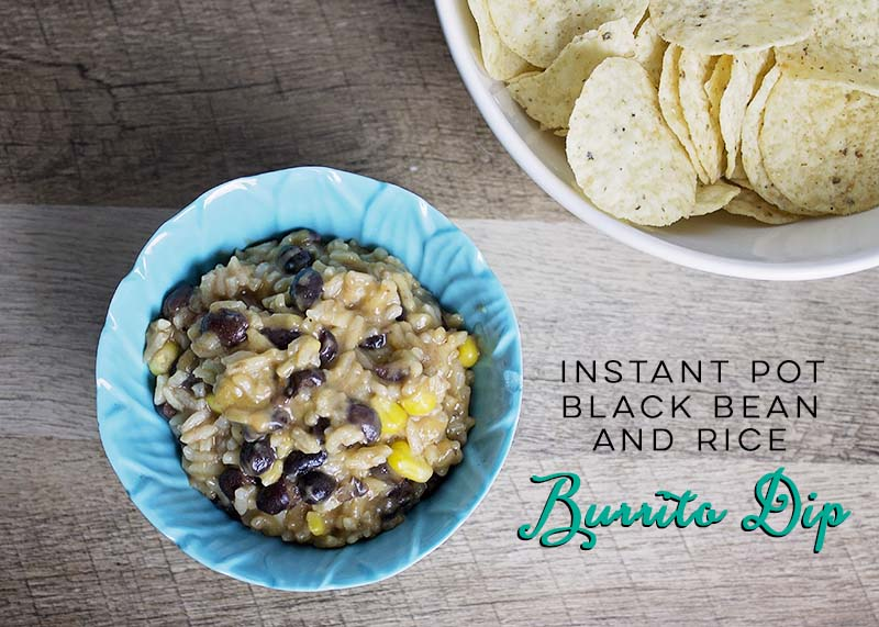 Instant Pot Black Bean and Rice Burrito Dip - The House of Plaidfuzz