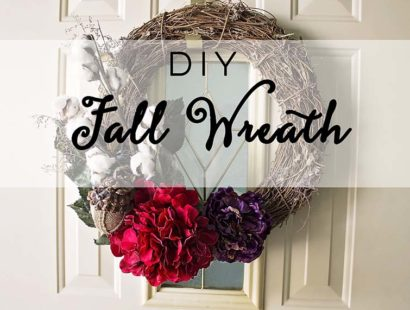 DIY Fall Wreath: Repurpose and Reuse