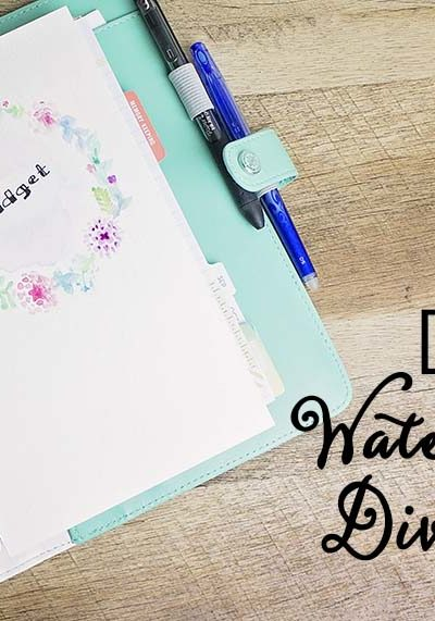 DIY Watercolor Dividers