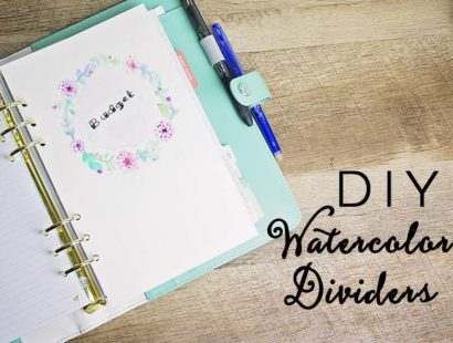 Watercolor Dividers DIY