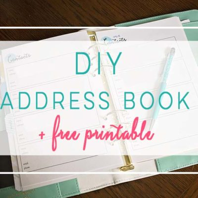 DIY Address Book