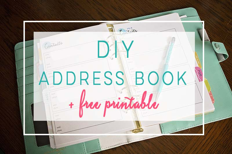 diy address book the house of plaidfuzz