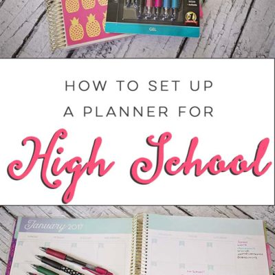 How To Set Up A Planner For High School