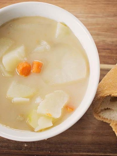 Instant Pot vegan potato soup