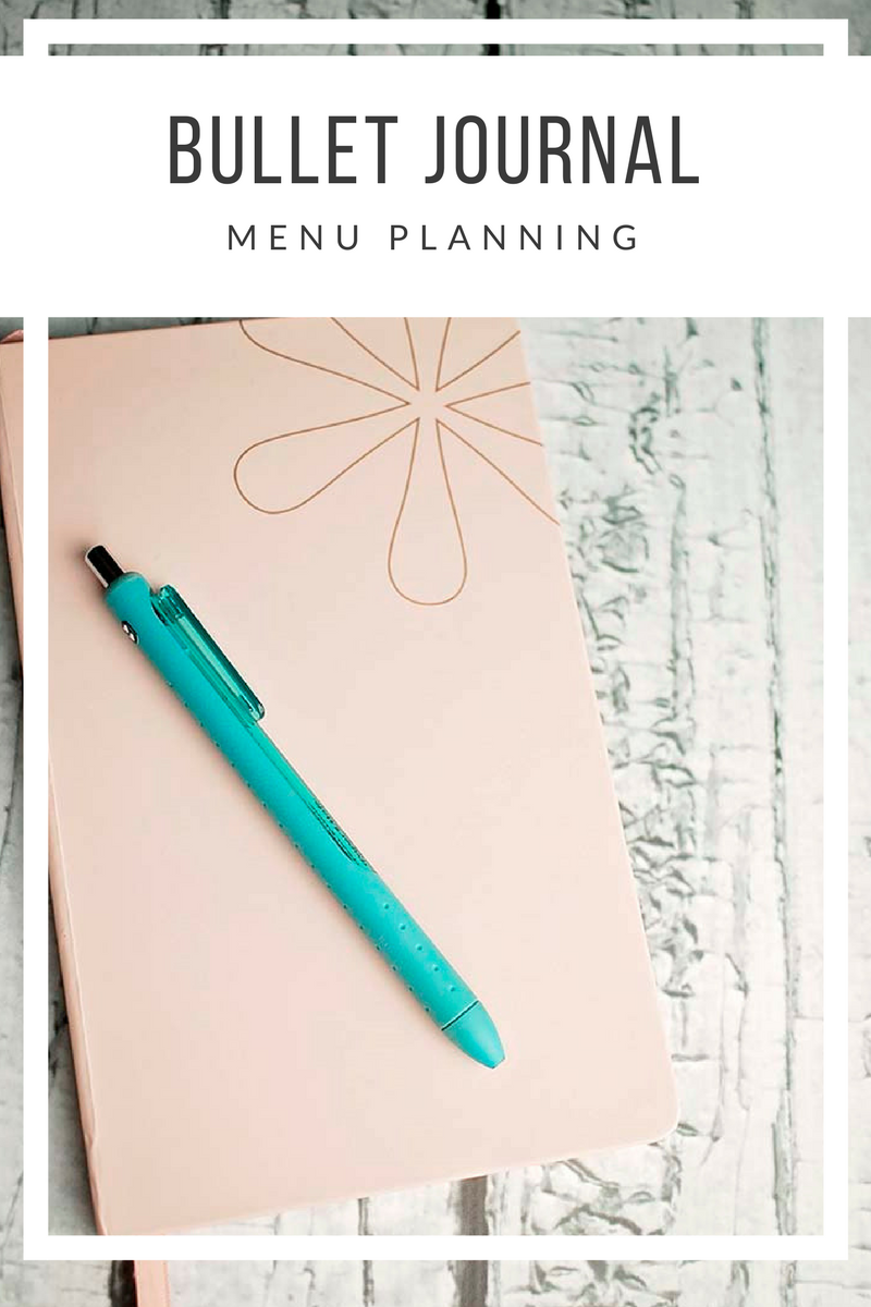 Bullet Journal Menu Planning