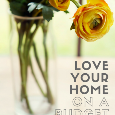 how to love your home on a budget