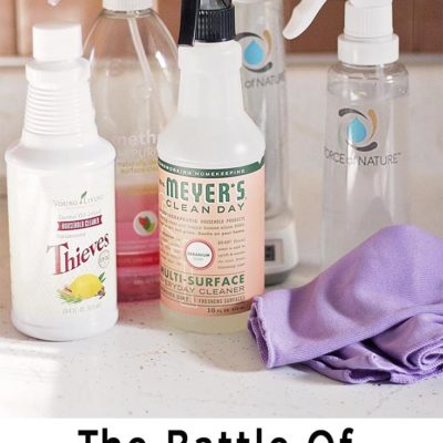 The Battle of the Natural Cleaning Products