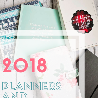 2018 Planners and Notebooks