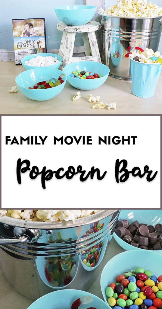 Family Movie Night Popcorn Bar Pin