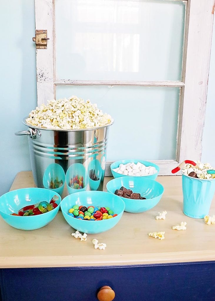 Family Movie Night Popcorn Bar