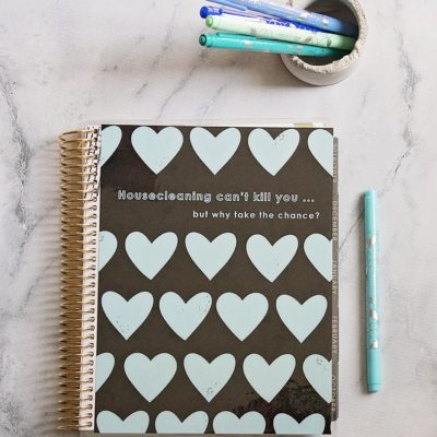 Erin Condren Deluxe Monthly Household and Cleaning Planner