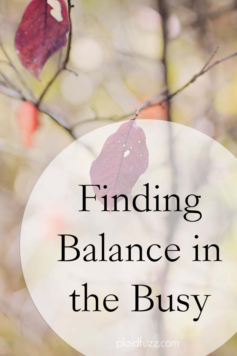 Finding Balance In The Busy