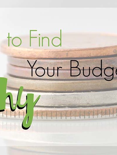 How to find your budgeting why