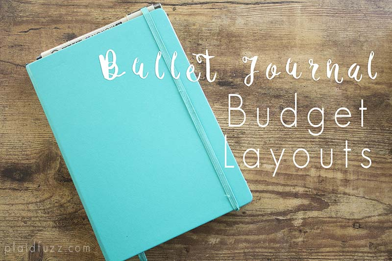 Bullet Journal Budget Layouts