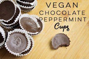 Vegan Chocolate Peppermint Cups