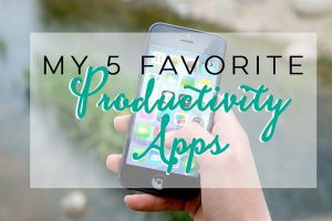 My 5 favorite Productivity apps