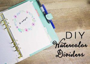 DIY Watercolor Dividers