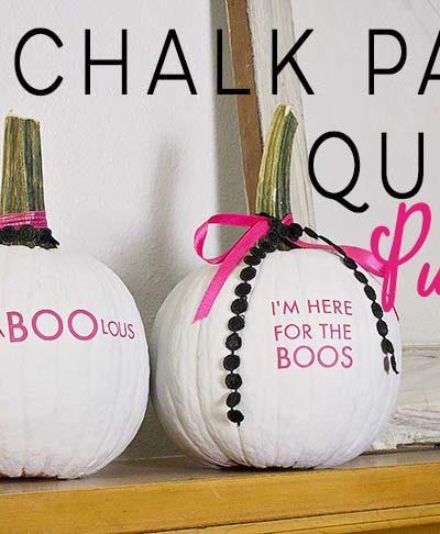 Chalk Paint Quote Pumpkins