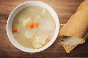 Instant Pot vegan potato soup