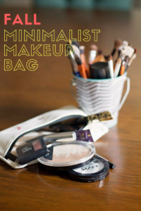 Fall Minimalist Makeup Bag